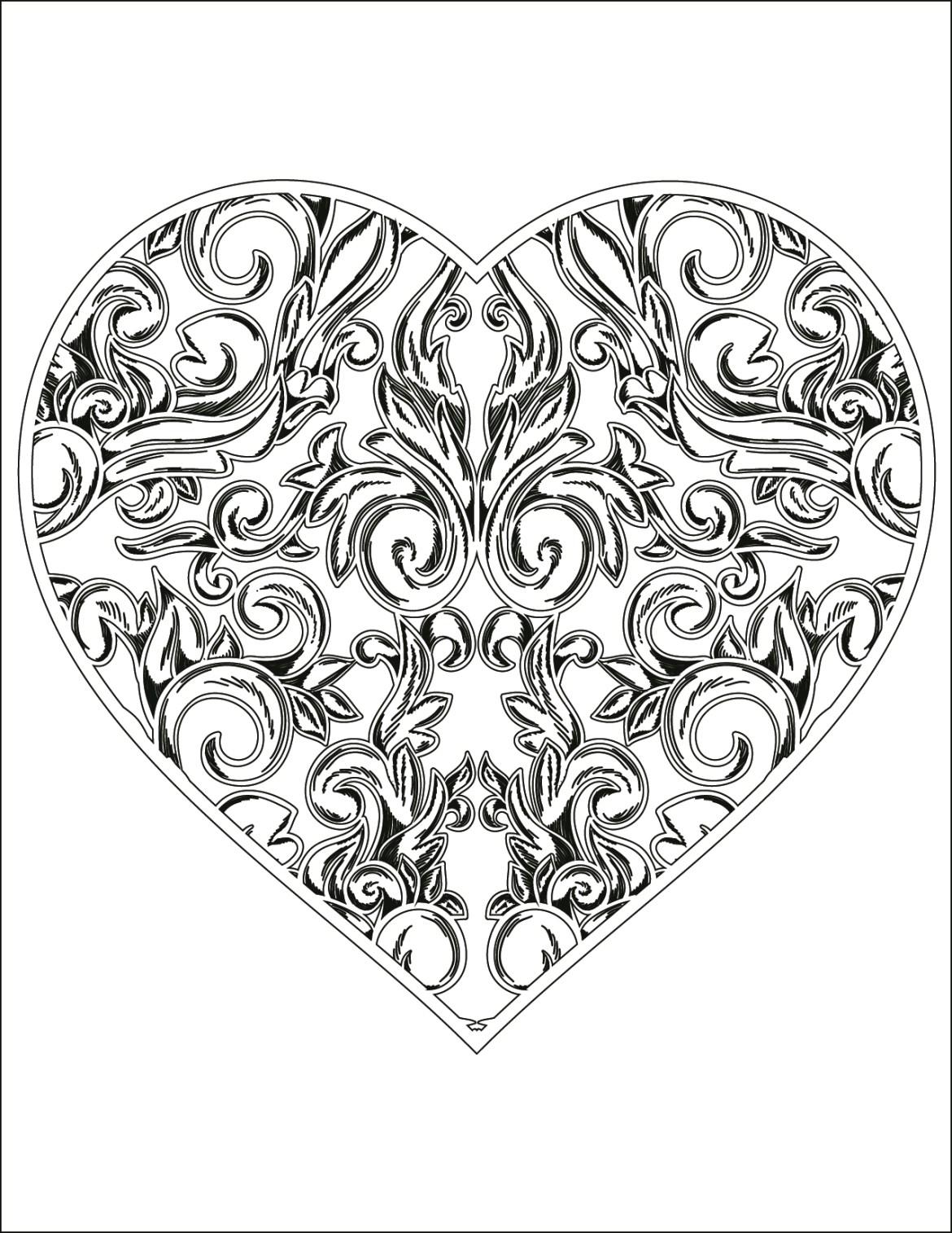 Coloriage Adulte Coeur.Carte St Valentin Coeur A Colorier Pour Adulte Gratuite Artherapie Ca
