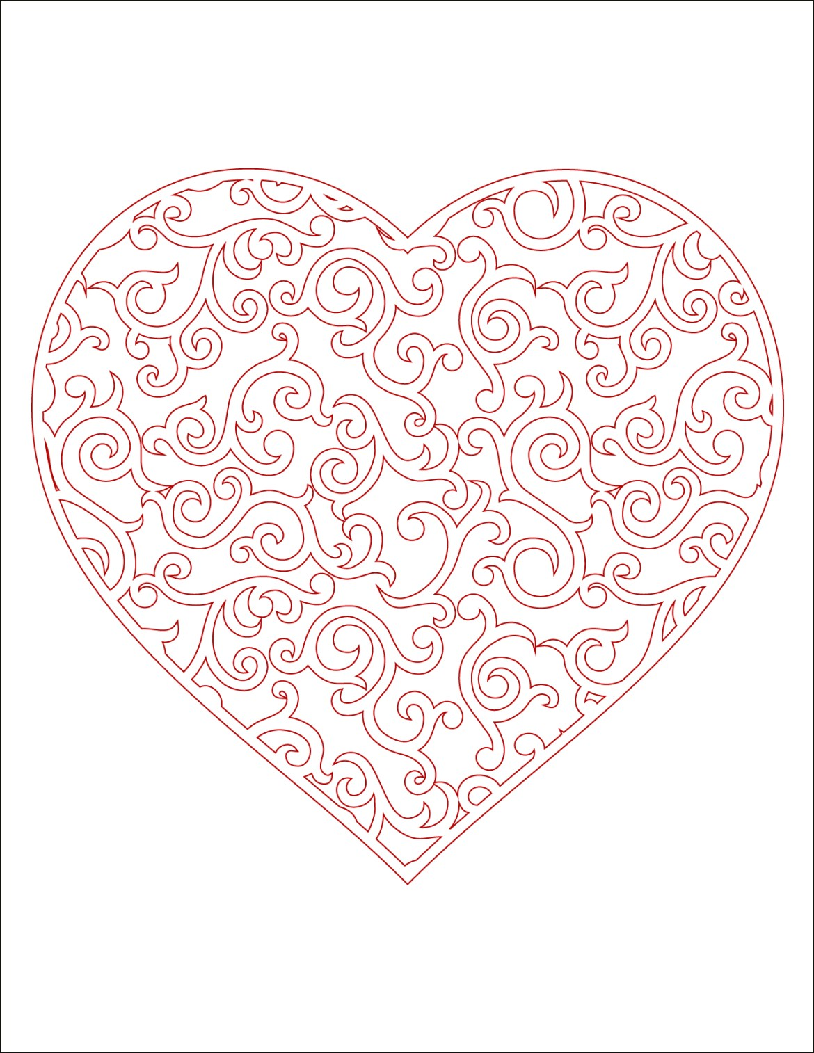 Coeur A Imprimer En Couleur Carte St Valentin Artherapie Ca