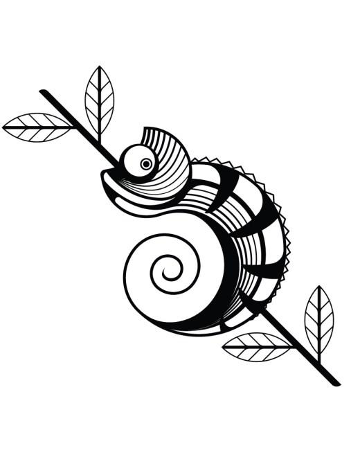 Image à imprimer gratuit facile caméléon page pour enfant