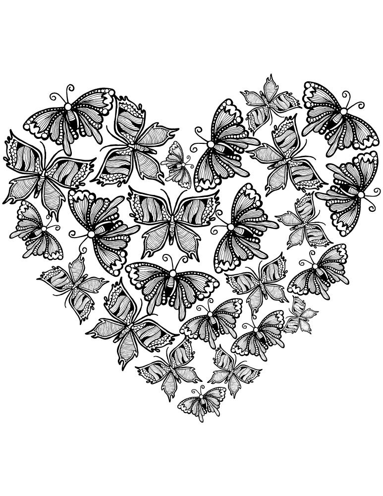 Image de coeur d amour gratuit très difficile à imprimer