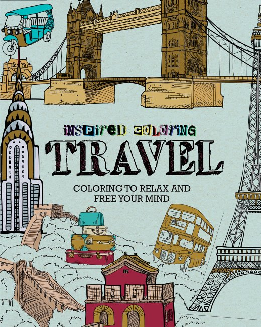 Critique du livre inspired colouring Travel collection Parragon