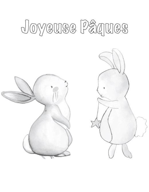 Lapins de Pâques à colorier pour adulte