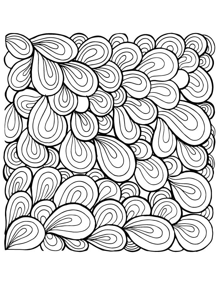 Pattern zendoodle dessin à colorier et imprimer mindfulness colouring