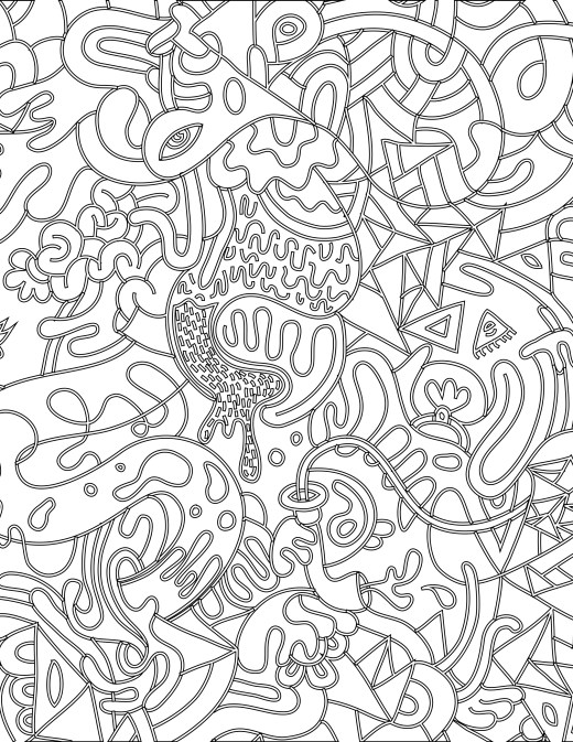 Doodle coloriage magique à imprimer pour adulte