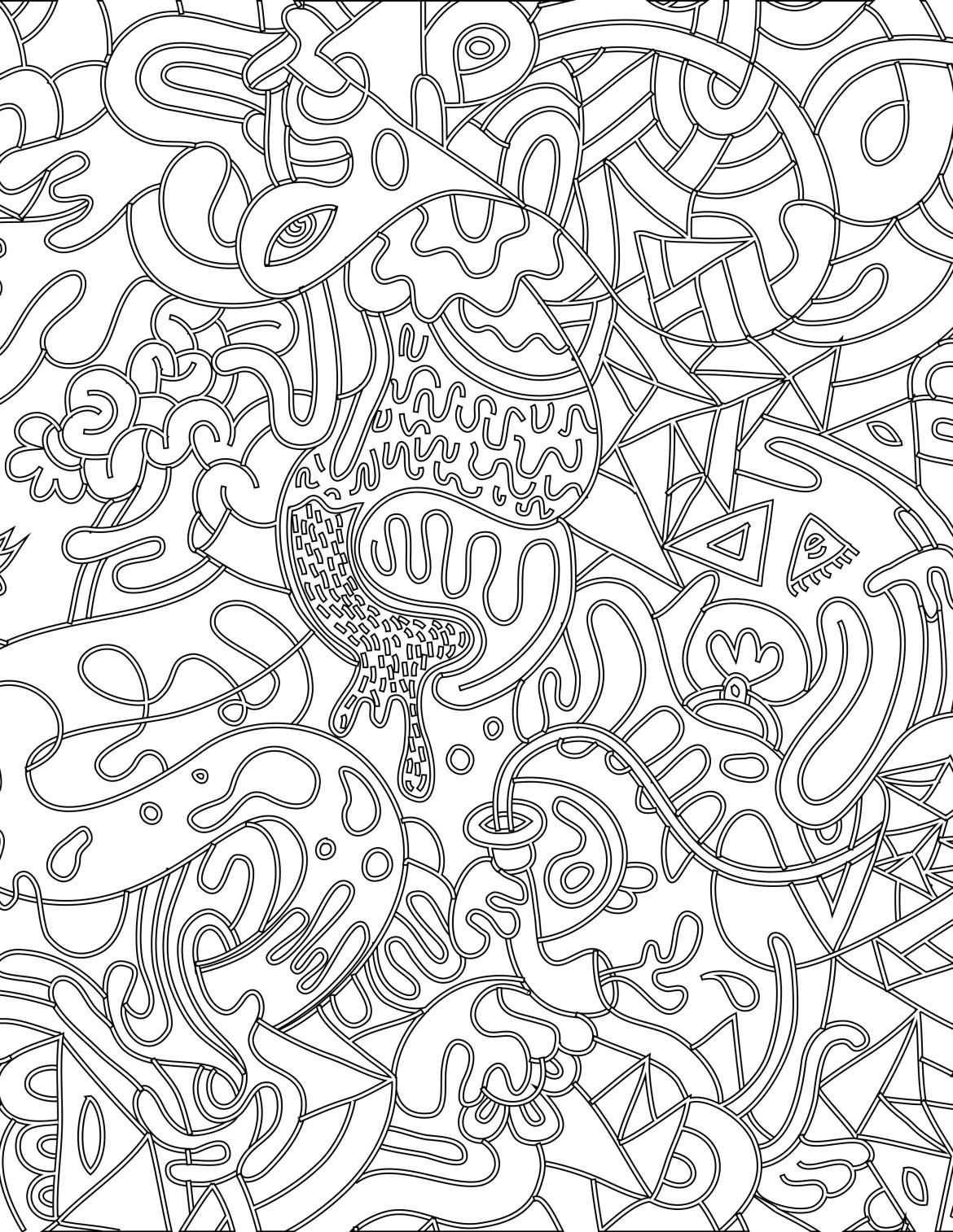 Coloriage Magique Insecte.Doodle Coloriage Magique A Imprimer Pour Adulte Artherapie Ca
