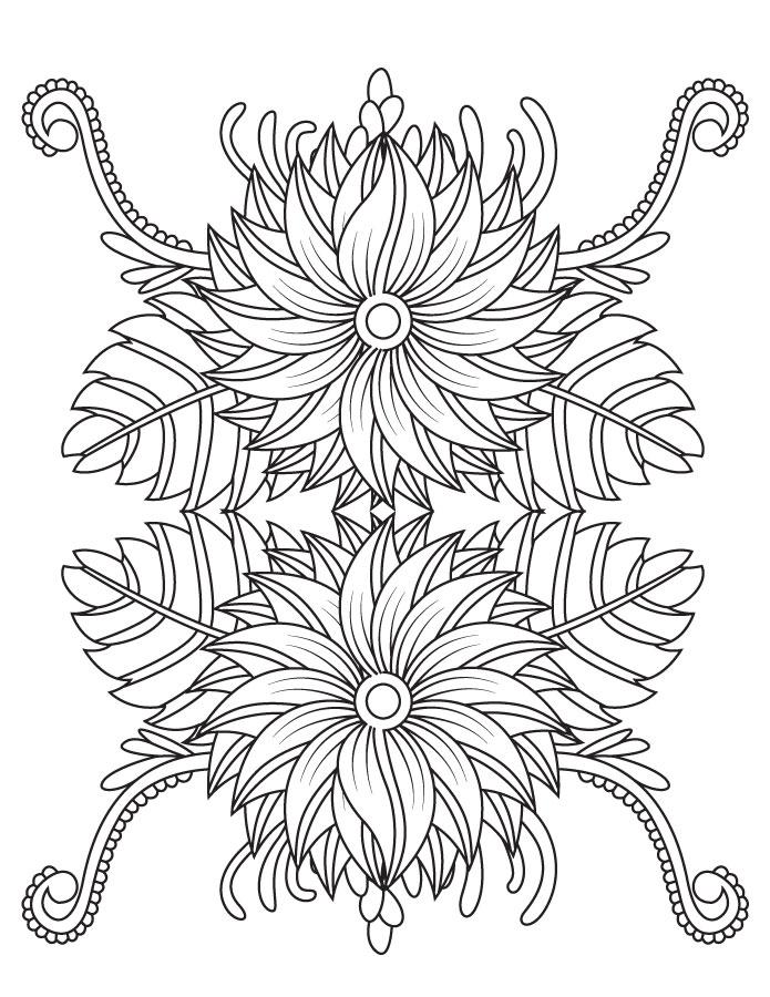 Artherapie coloriage mandala fleurs pour adulte - Coloriage fleur mandala ...