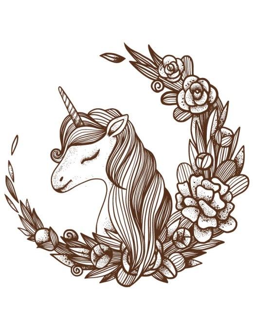 Artherapie coloriage licorne à imprimer et dessiner