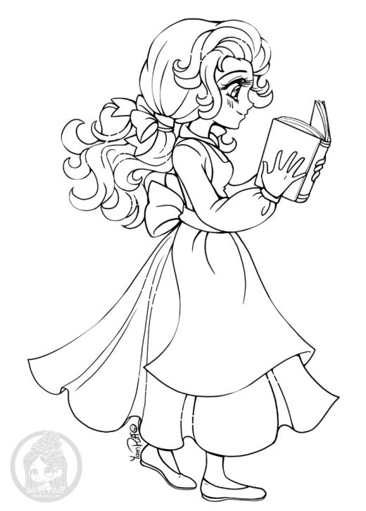La belle et la bete princesse coloriage imprimer par YamPuff