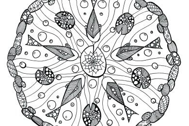 Coloriage mandala adulte par Azyrielle