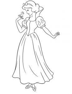 Blanche neige princesse coloriage Disney à imprimer