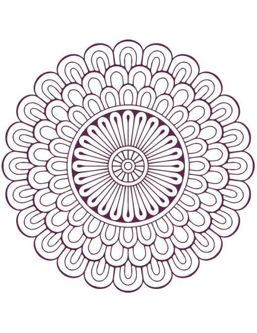 Dessin mandala designs facile à imprimer