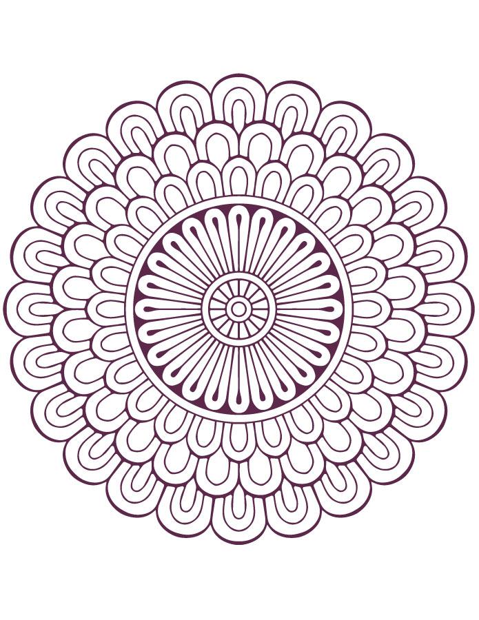 Dessin mandala designs facile à imprimer - Artherapie.ca