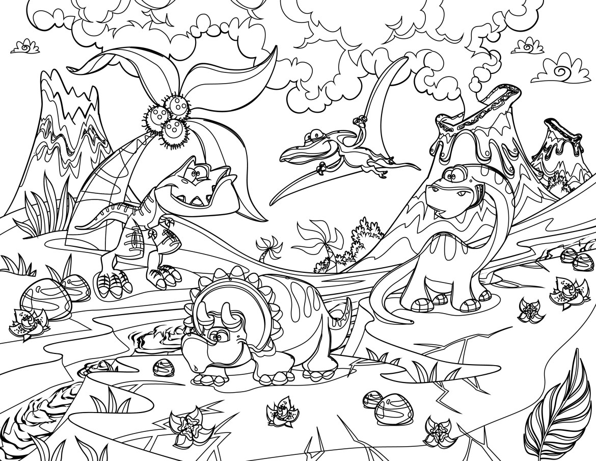 Coloriage Dinosaure Art Therapie Bestiaire Tres Difficile