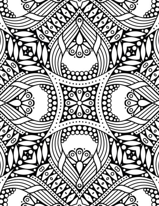 Dessin mandala coloriage art therapy imprimer gratuit
