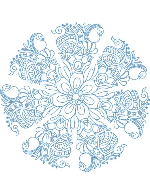 Coloriage mandala artherapie à imprimer pour adulte