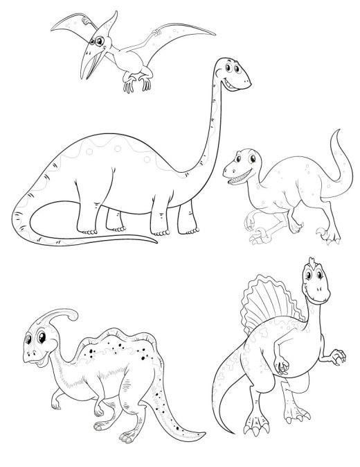 Dessin pour enfant coloriage dinosaure à imprimer