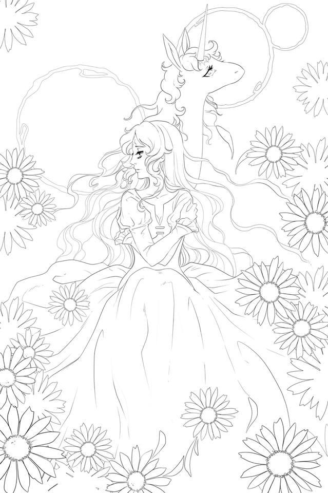 Last Unicorn coloriage gratuit à imprimer par Dar-Chan