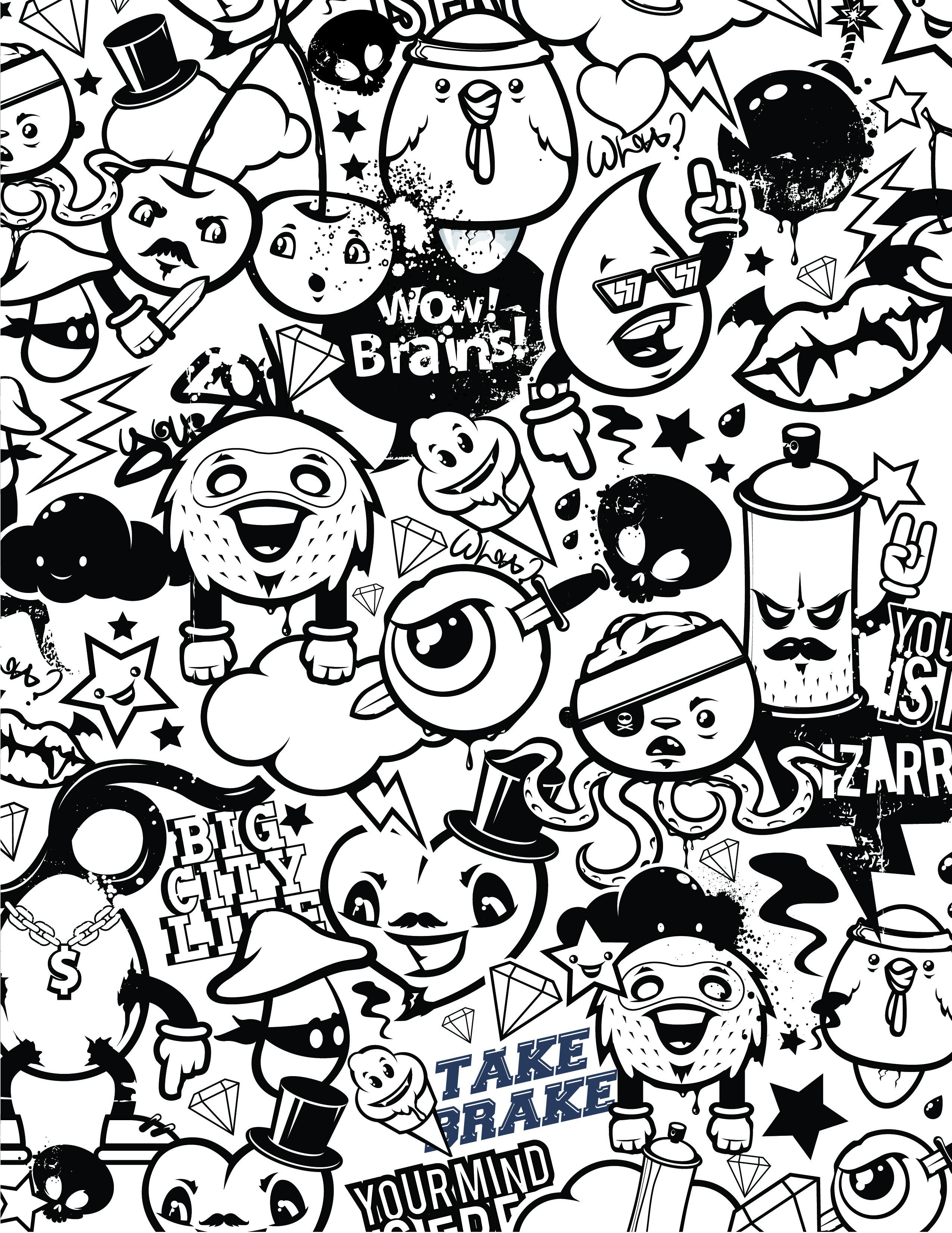 Graffiti Coloriage Emoji Gestion Du Stress A Dessiner Gratuit