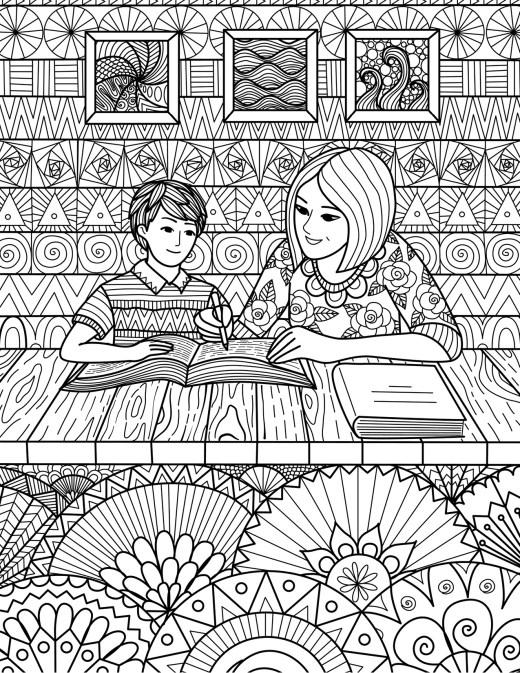 La leçon coloriage en ligne gratuit difficile par Bimbimkha