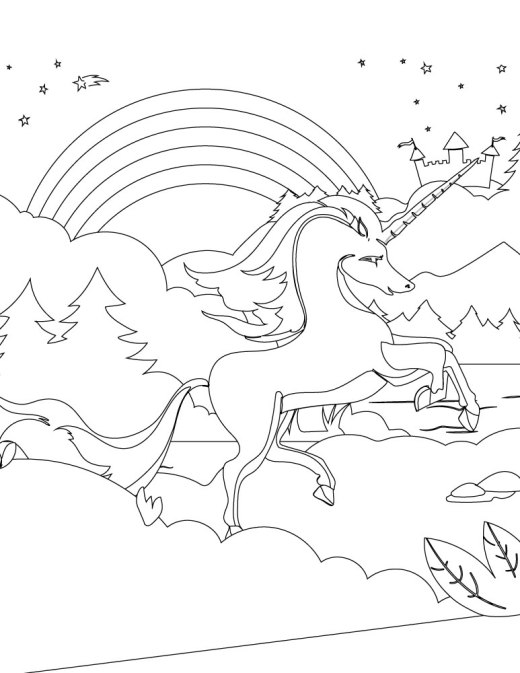 Artherapie coloriage pour adulte Unicorn coloring pages