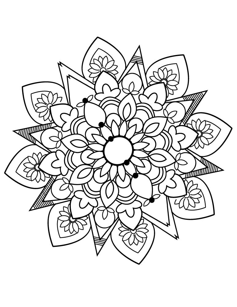 Coloriage Gratuit Imprimer Mandala.Mandala Images Facile Coloriage Gratuit Imprimer Artherapie Ca