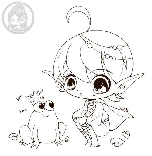 La princesse et la grenouille à imprimer par YamPuff
