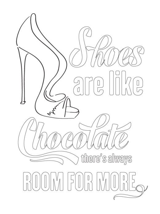 Délicate chaussure femme quote typographie gratuit