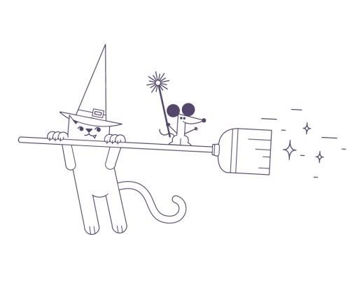 Dessin de chat facile coloriage a imprimer pour halloween
