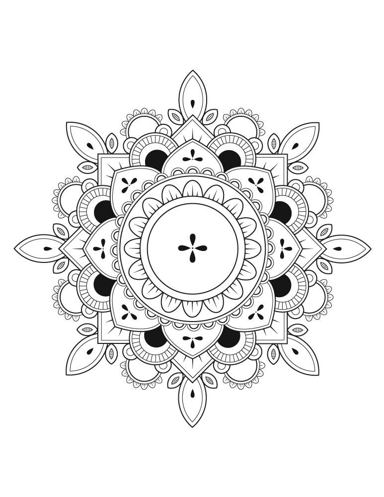 Coloriage Adulte Gratuit Mandala.Dessin A Colorier Adulte Destresser Free Mandalas To Print