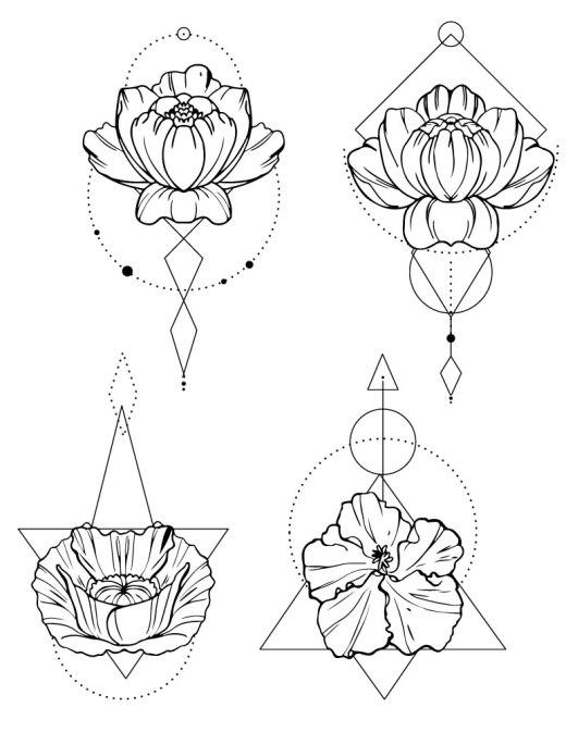 Délicates fleurs moderne impression affiche gratuite