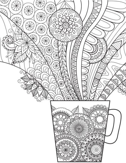 Café gratuit à imprimer coloriage de Bimbimkha