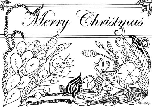 Coloriage gratuit par Leen Margot Merry Christmas