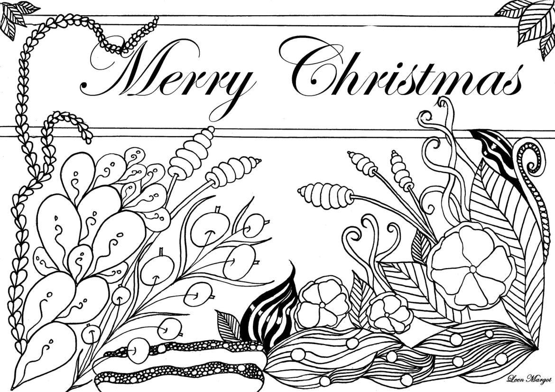 Coloriage gratuit par Leen Margot Merry Christmas