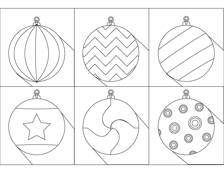 Boules de no l dessin pour enfant imprimer coloriage - Boules de noel a colorier et imprimer ...