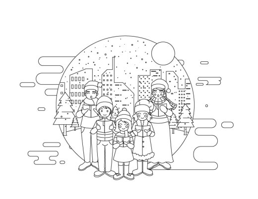 Famille jeux de coloriage noel à imprimer