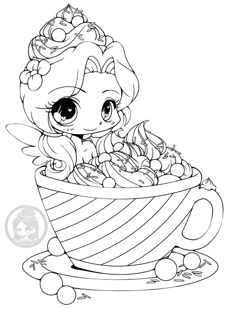 Page coloriage par YamPuff hot cocoa emiko