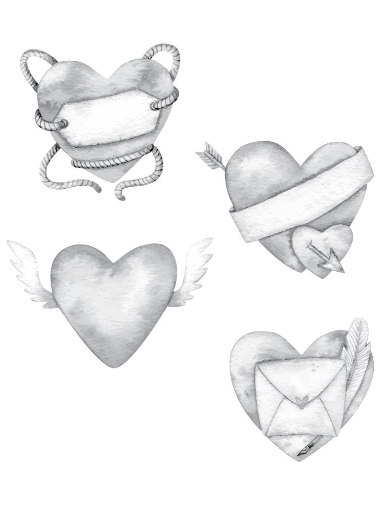 Dessin de coeur de Saint-Valentin à imprimer