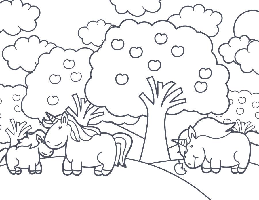 Dessin imprimer gratuit paysage unicorn - Paysage a imprimer ...