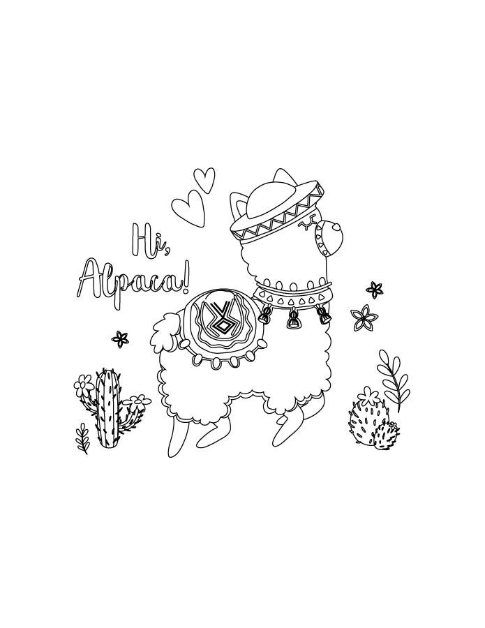 Fortnite Coloriage Alpaca à Imprimer Artherapieca