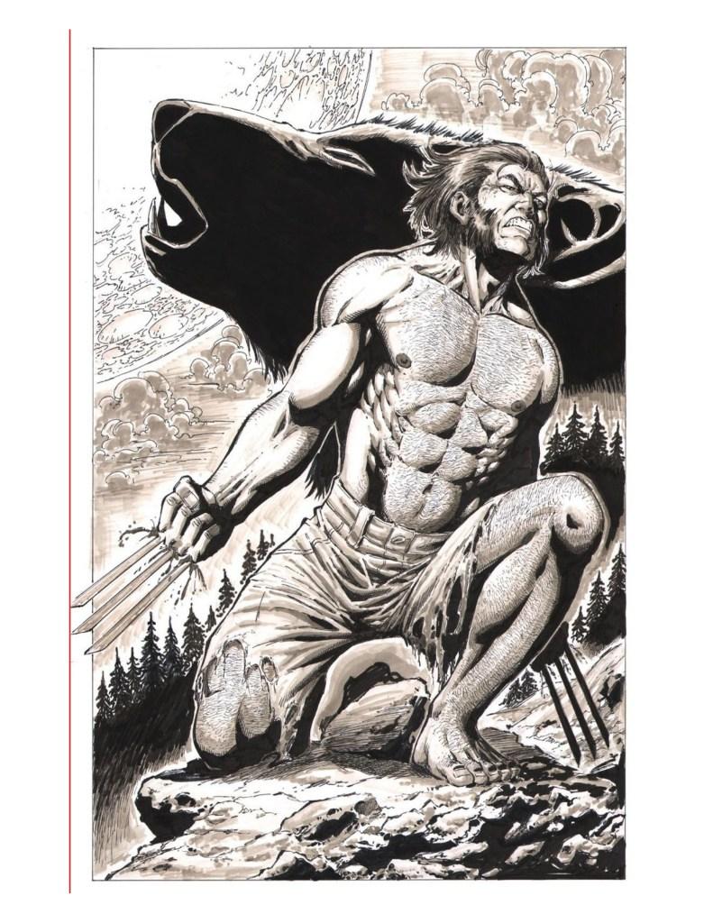 Coloriage Marvel comics Wolverine par Walter Geovani