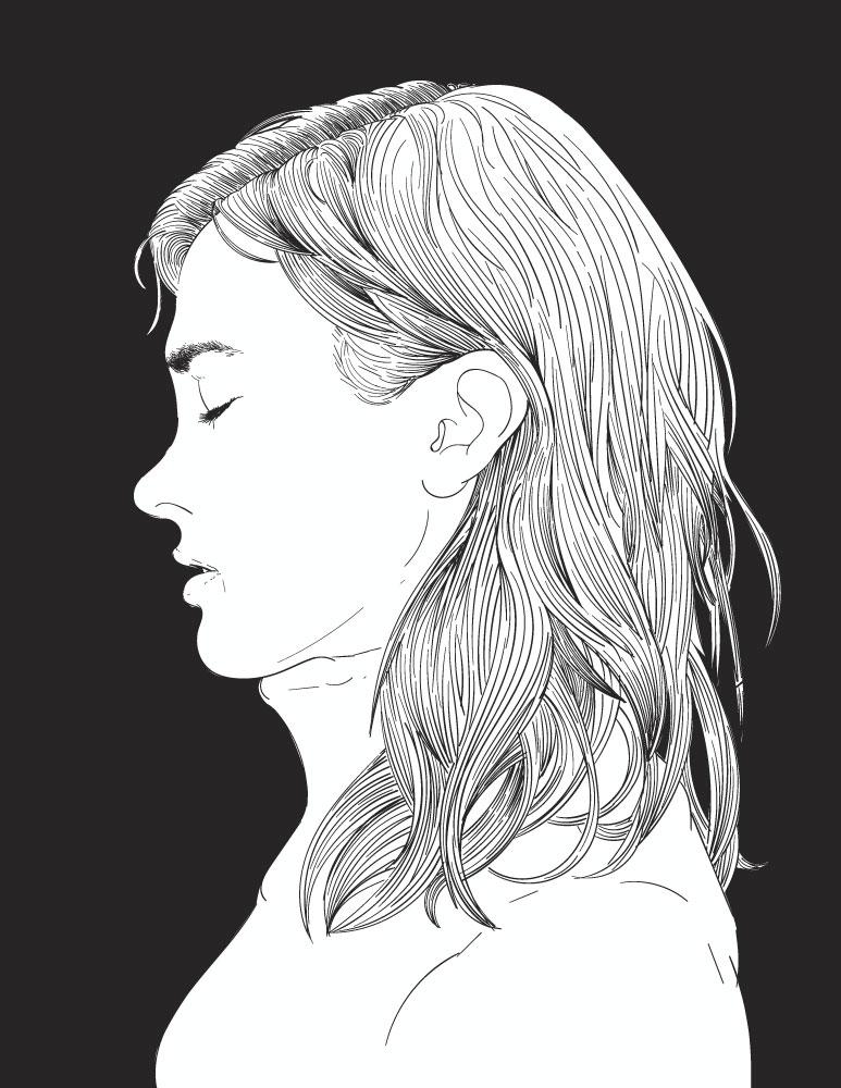 Visage femme coloriage gratuit à imprimer