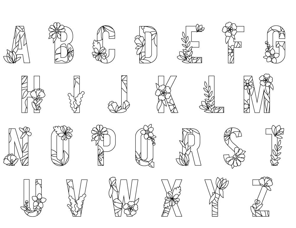 Lettre Alphabet Printemps A Imprimer Artherapie Artherapie Ca