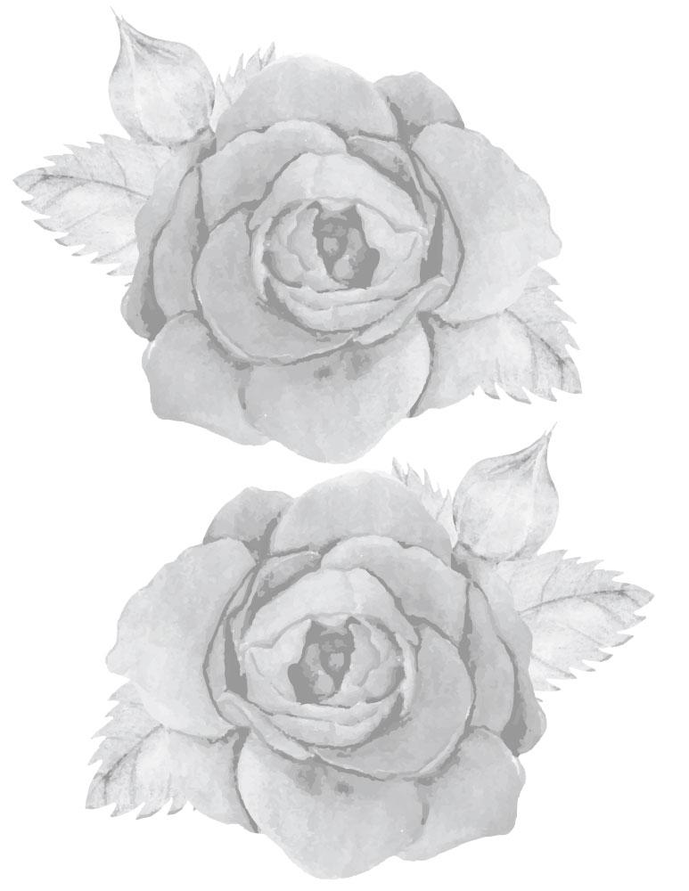 Roses jeux de coloriage grayscale à imprimer