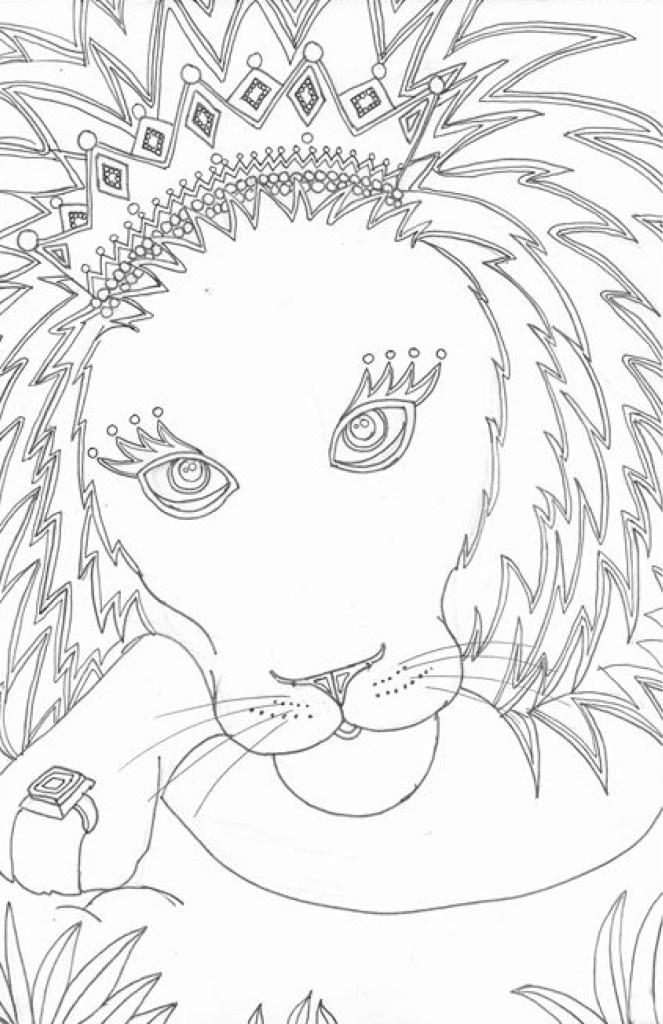 Roi Lion à Colorier Par Marie Claude Fontaine Artherapieca
