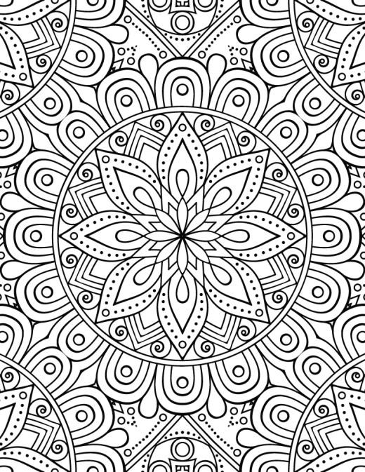 Mandala pour adulte gratuit à imprimer