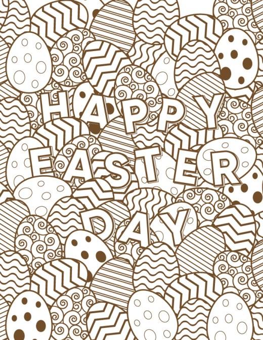 Joyeuses Pâques dessin oeufs gratuits