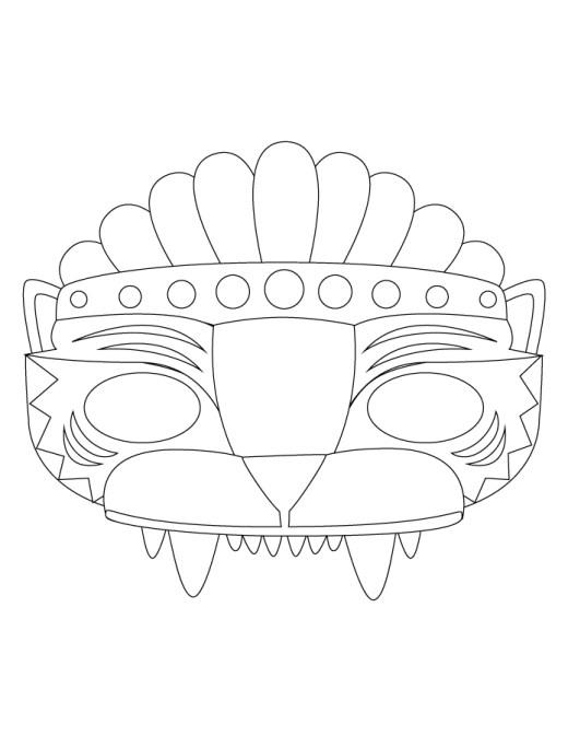 Masque gratuit pour enfant à colorier