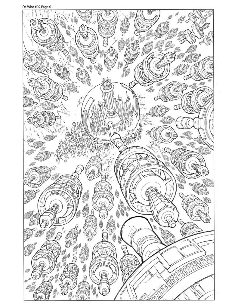 Page à colorier Doctor Who par Walter Geovani