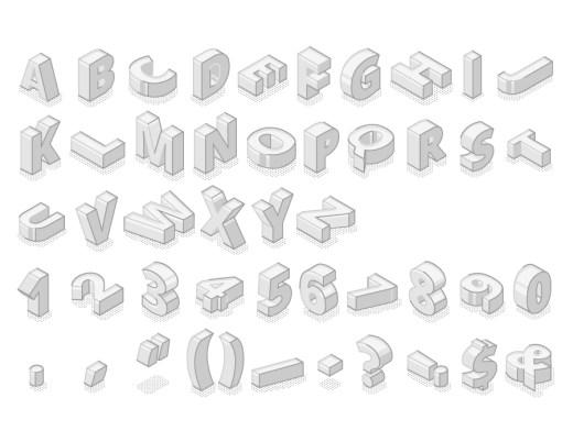 Alphabet affiche 3D à imprimer