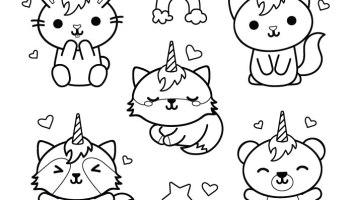 Icones Kawaii Dessin Stamp Gratuit Artherapie Ca